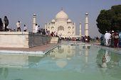 Taj Mahal in a sunny day