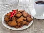Pepper Cinnamon Cookies On A White Plate