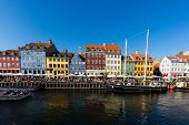 Nyhavn District In Copenhagen