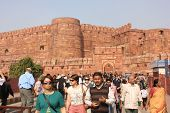 Agra Fort entrance gate, India