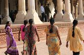 Women walking at Agra Fort