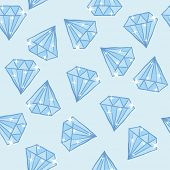 diamond seamless pattern cartoon doodle