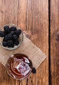 Blackberry Liqueur In A Shot Glass