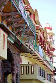 Architectural Detail Of A Colorful Hindu Temple