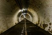 Greenwich foot tunnel in London, UK