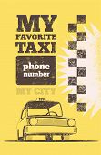 Taxi cab retro poster