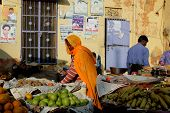 Indian Girl Selling Vegetables