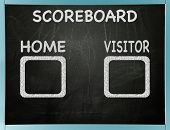 Home and visitor scoreboard