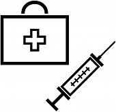 Medical items - Vector illustration