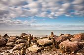 Groynes On The Baltic Sea