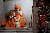 Divinity Detail Inside The Hanuman Temple In Delhi