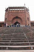 Delhi, India, November 25, 2012: Jama Masjid Of Delhi Is The Largest Mosque In India. The Jama Masji