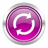 reload violet icon refresh sign