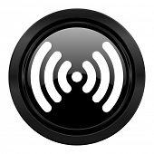 wifi black icon wireless network sign