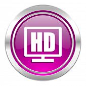 hd display violet icon