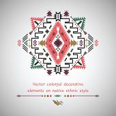 Vector elements on native ethnic style