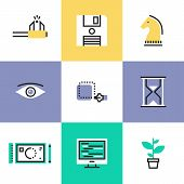 Creative Workflow Pictogram Icons Set