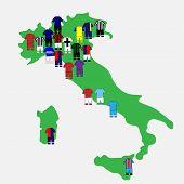 Italian League Clubs Map 2013-14