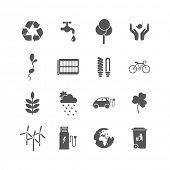 set of isolated ecology icons