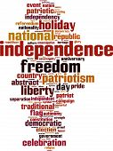 Independence Word Cloud