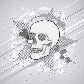 dark abstract composition with skull