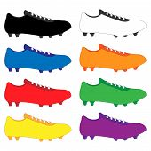 Football Cleats In Different Colours