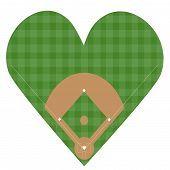 pic of hitter  - Illustration of a heart shaped baseball field - JPG