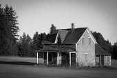 Dilapidated farm house