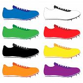 Running Shoes With Spikes In Different Colours