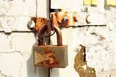Old Rusted Padlock