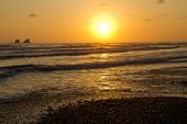 image of breathtaking  - Breathtaking view of amazing sunset in a beautiful beach of Manabi - JPG