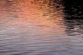 stock photo of atlantic ocean  - Water Texture Pattern at Sunset on the Atlantic Ocean - JPG