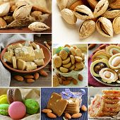 foto of ground nut  - collage almond and nut products  - JPG