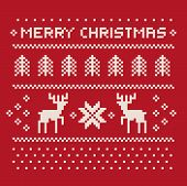 pic of t-shirt red  - christmas winter pattern print for jersey or t - JPG
