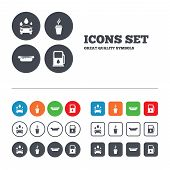 picture of petrol  - Petrol or Gas station services icons - JPG