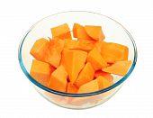 A Butternut Pumpkin Ready To Cook