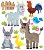 stock photo of farm animals  - Farm animals set 3  - JPG