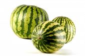 picture of melon  - Three water melons on white background - JPG