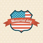 stock photo of north star  - Memorial Day design over beige background - JPG