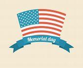 picture of memorial  - Memorial Day design over beige background - JPG