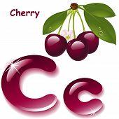stock photo of cherries  - Alphabet - JPG