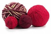 Four Colored Wool Clews