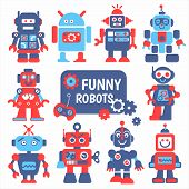 picture of spaceman  - Funny robots set - JPG