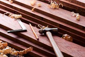 foto of lumber  - Wood working - JPG