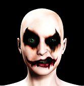 Evil Clown feminino psicótico