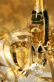 picture of champagne glass  - close - JPG
