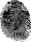 Single Black Fingerprint