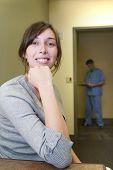 Woman Waiting At Clinic
