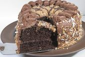 Old World German Chocolate Cake Slice