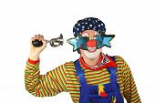 Clown with Horn is Honking